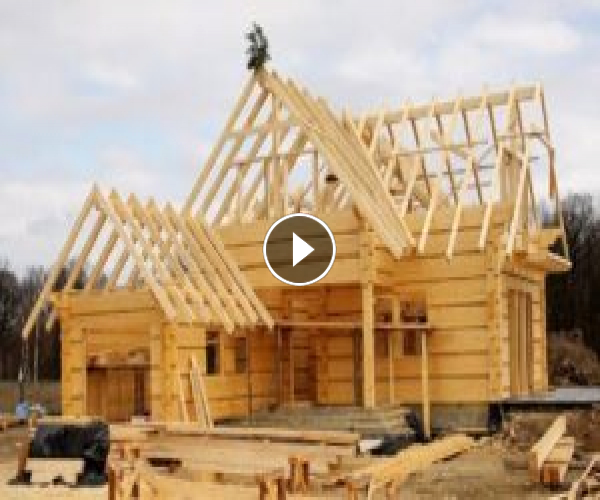 How It's Made Build Wooden House Time Lapse, Amazing Wooden House Construction Workers Skills
