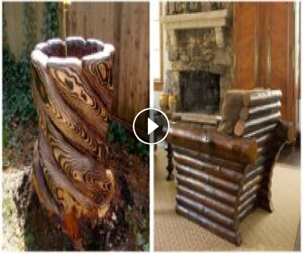 80 beautiful ideas from wooden logs: rustic furniture, garden decorations, crafts.