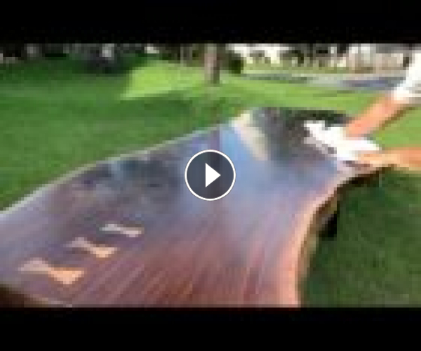 Walnut Live Edge Slab Table / Woodworking